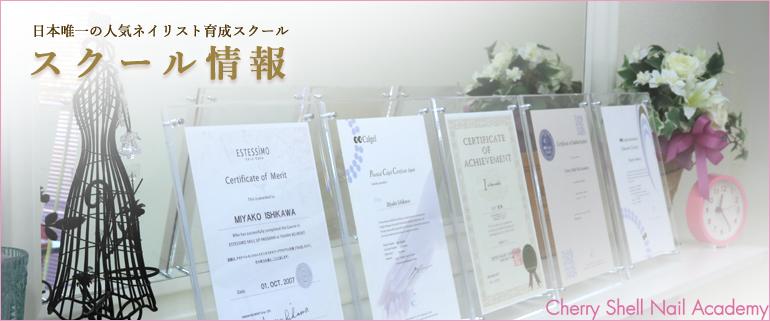 cherry Shell Nail Academy(チェリーシェルネイルアカデミー)スクール情報-日本唯一の人気ネイリスト育成スクール